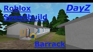 ROBLOX STUDIO SPEED BUILD / Barrack / Dayz