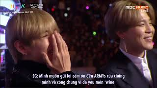 [VIETSUB] 171202 SUGA & SURAN 'WINE' -  Hot Trend Award @ 2017 MelOn Music Awards