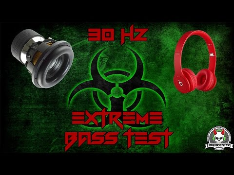 Woofer cooker EXTREME BASS TEST ULTRA LOW BASS EXCURSION TEST 30Hz Subwoofer & Headphone bass tester