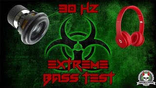 Woofer cooker EXTREME BASS TEST ULTRA LOW BASS EXCURSION TEST 30Hz Subwoofer & Headphone bass tester