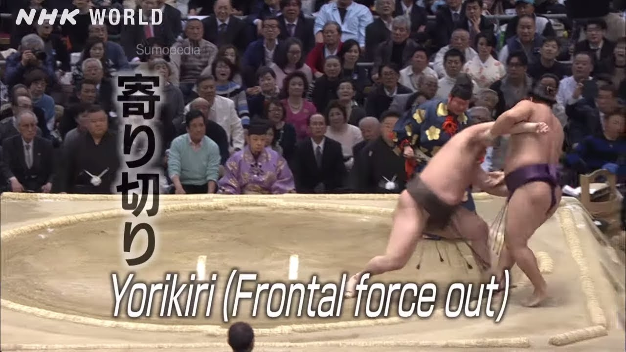 Photo of Yorikiri [寄り切り] – SUMOPEDIA – video
