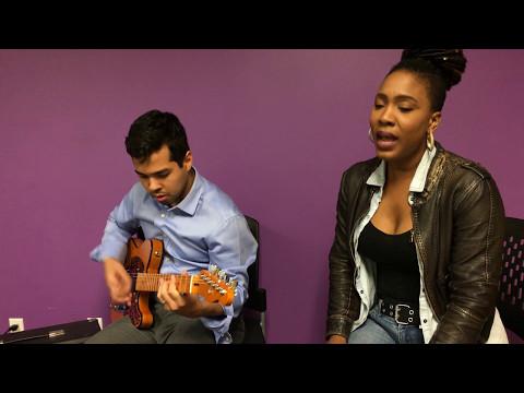 Rozee Lockhart & Taylor Lebowe perform KISS on Prince Tribute Guitar