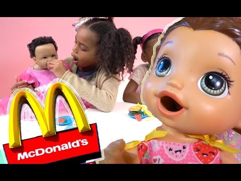 Pretend Play Food! Baby Doll McDonalds Playdoh