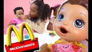 Pretend Play Food! Baby Doll McDonalds Play-doh