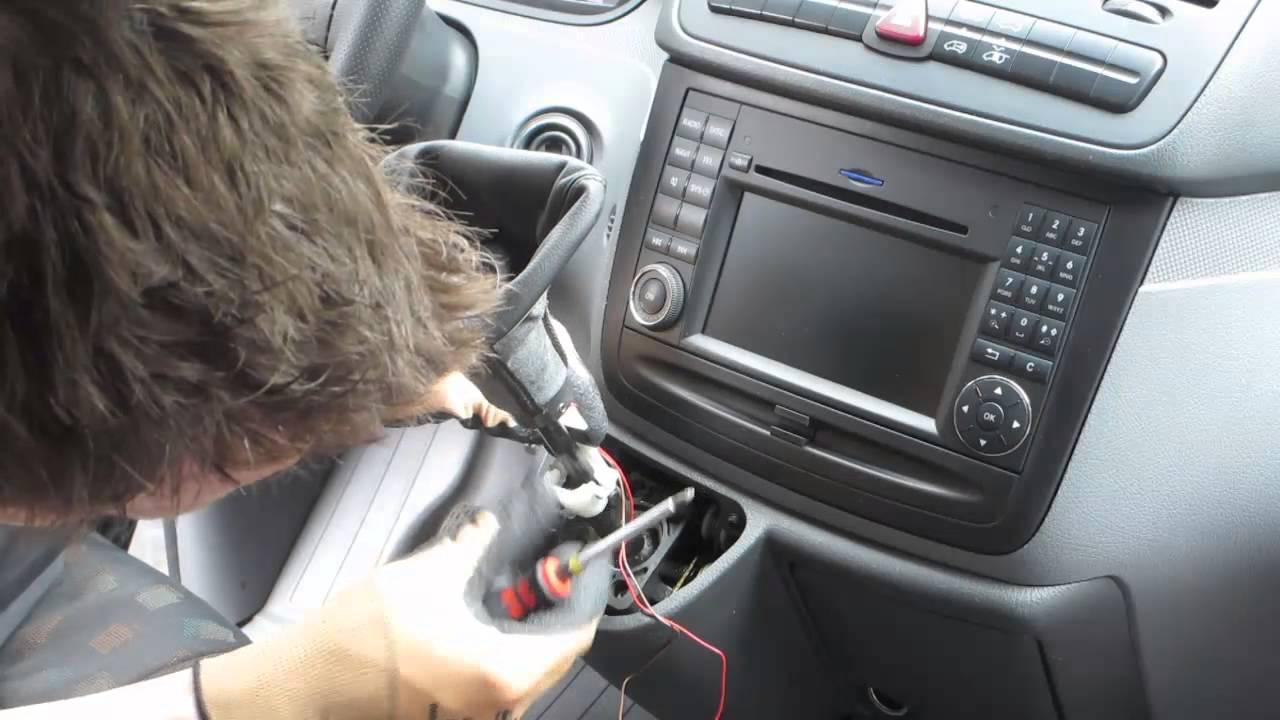 radio wiring diagram car einbau ict schaltknauf mercedes v klasse vito wechseln how  einbau ict schaltknauf mercedes v klasse vito wechseln how