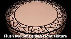 Two-Tone 41-50W Dimmable Ceiling Light With Remote Control