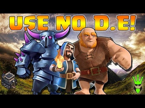 THIS ARMY USES NO DARK ELIXIR! - TH9 DE Farming - Clash of Clans - Let's Play TH9 Episode 10