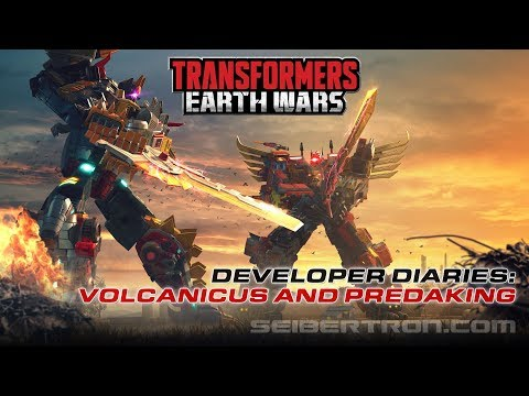 Transformers Earth Wars Volcanicus vs Predaking - Developer Diary