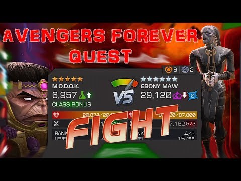 MARVEL CONTEST OF CHAMPIONS Avengers Forever Bosses Fights (Uncollected Part 1)