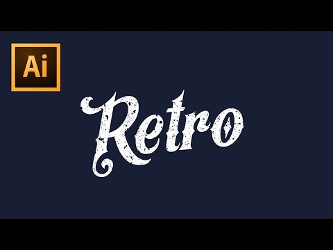 How To Apply Textures To Text - Illustrator CS6 Tutorial