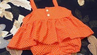 Hướng dẫn may áo hai dây xếp li xòe - bộ quần chun