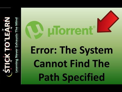 How to Fix Error In uTorrent, The System...