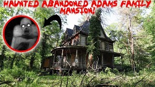 SECRET HAUNTED ABANDONED ADDAMS FAMILY MANSION IN THE WOODS! * LIVE CREATURE FOUND* | MOE SARGI