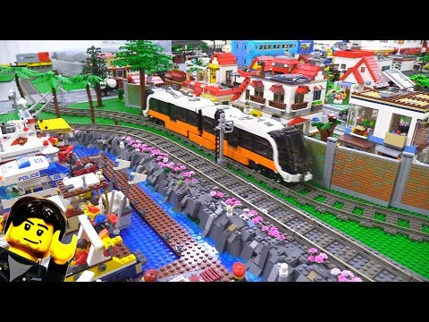 A better LEGO city update! Terrain, train, mess, etc. Feb. 1, 2018