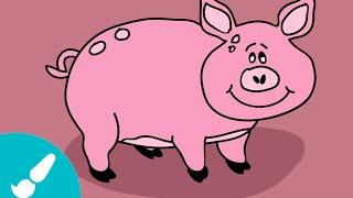 Cómo dibujar un cerdo I How to draw a pig