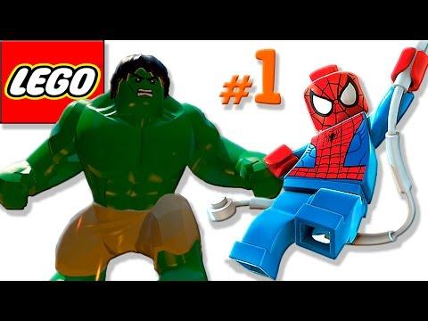🐈 ЛЕГО мультик ИГРА про супергероев #1 Супергерои Халк, Железный человек и Человек паук