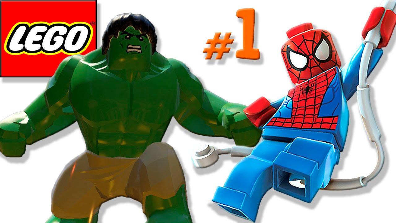 ЛЕГО мультик ИГРА про супергероев #1 Супергерои Халк ...