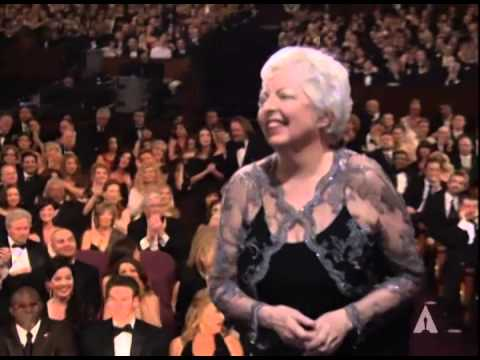 "Thelma Schoonmaker winning a Film Editing Oscar® for ""The Departed"""