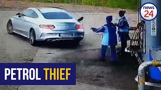 WATCH   Mercedes-Benz driver speeds off without paying at Durban petrol station