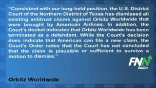 Orbitz Confirms Court Dismissal of Lawsuit by American Airlines (OWW)