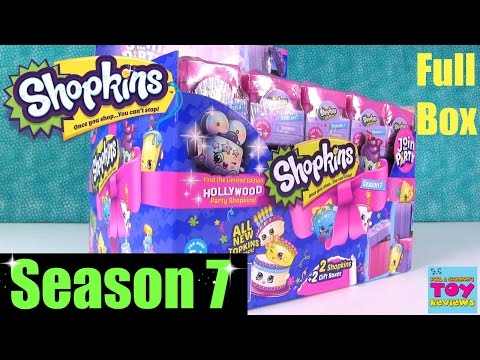 Shopkins Season 7 Full Box 2 Packs Blind Bag Opening Join The Party | PSToyReviews