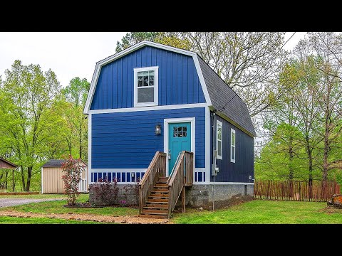 Amazing Beautiful Tiny Home Sits On 2 Flat Acre for Sale | Tiny House Big Living