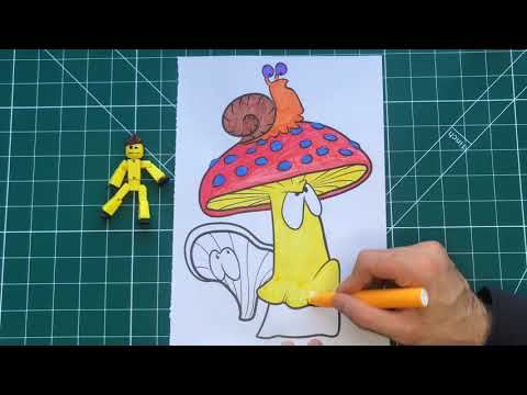 Magic Mushrooms drawing | Funny Animals Cartoons for Kids tv