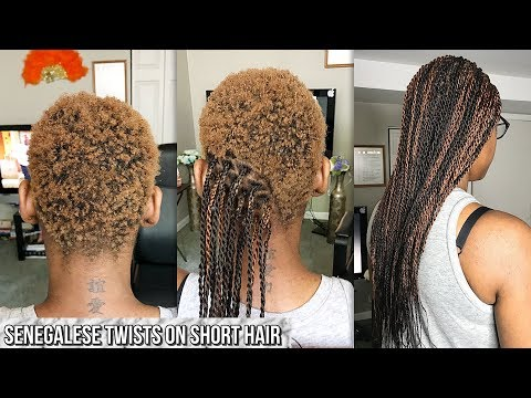 HOW TO GRIP AND BRAID VERY SHORT HAIR SENEGALESE TWISTS