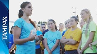 Alex Morgan Gives High School Soccer Team an AWEsomely Active Surprise