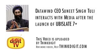Datawind CEO Suneet Singh Tuli interacts with media
