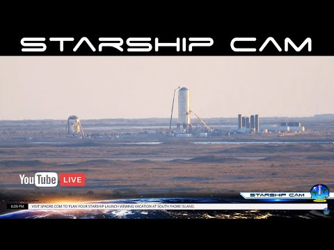 4K LIVE STARSHIP CAM - SpaceX Boca Chica Launch Pad Live In 4K From South Padre Island Texas