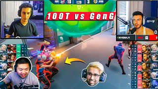 Shahzam and Others Streąmers React To 100T Insane Plays Against GenG | Valorant LCQ Highlights