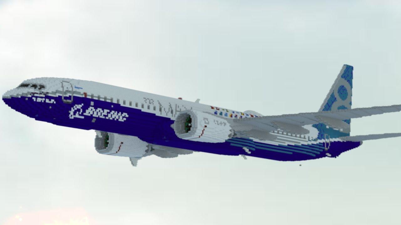 9 1 Giant Boeing 737 Remake Minecraft Youtube