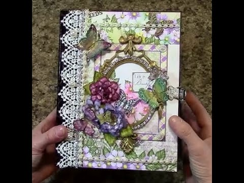 PART 2 TUTORIAL HEARTFELT CREATIONS BUTTERFLY MEDLEY MINI ALBUM - DESIGNS BY SHELLIE