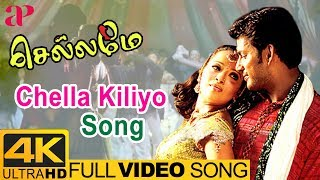 Chellame Tamil Movie Songs | Chella Kiliyo Video Song 4K | Vishal | Reema Sen | Bharat