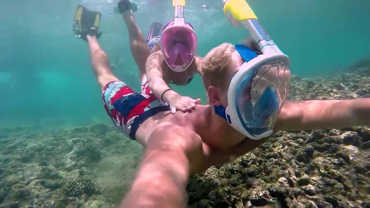 d2b7e9b79 H2O Ninja  Esta Máscara De Snorkeling Te Permite Respirar Por Tu Boca Y  Nariz Bajo El Agua
