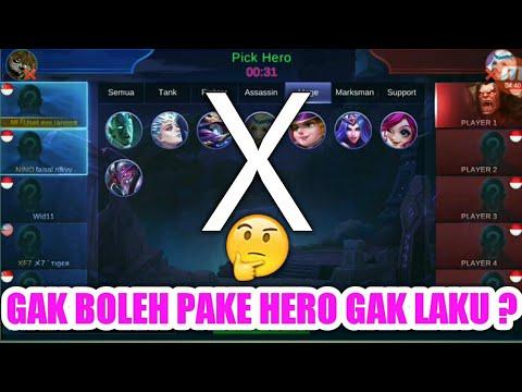 KALIAN GAK BOLEH PAKE HERO YANG GAK LAKU DI RANKED MATCH ? - MOBILE LEGEND INDONESIA