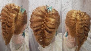 Прически Хвост из косички прическа. Видео-уроки обучение причесок своими руками hair hairstyles