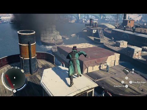 Assassin's Creed Syndicate Free Roam Parkour and Grappling Hook Gameplay