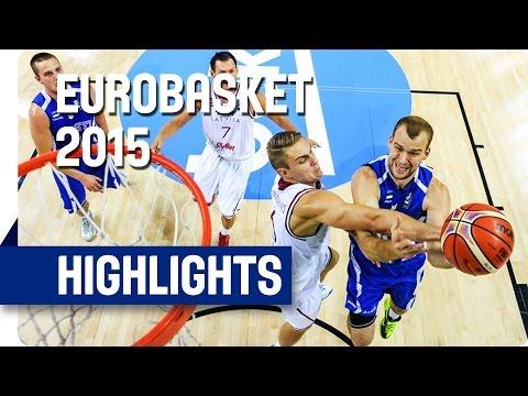 Latvia v Estonia - Group D - Game Highlights - EuroBasket 2015