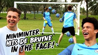 MINIMINTER HITS DE BRUYNE IN THE FACE WITH RABONA! ChrisMD & Miniminter v De Bruyne, Sane & Sterling