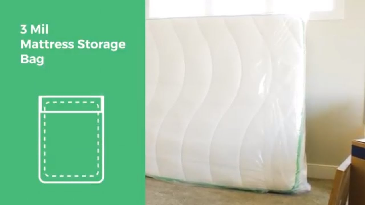 Linenspa Heavy Duty 6 mil Mattress Bag for Moving Storage and Disposal King