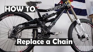 How to replace a Sram mountain bike chain