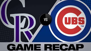 6/4/19: Schwarber, Baez propel Cubs to a 6-3 win