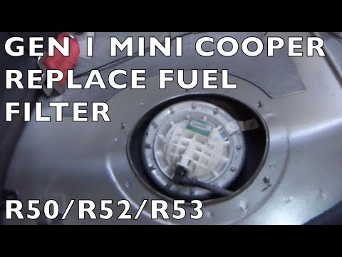 Replace Fuel Filter - Gen 1 MINI Cooper R50 R52 R53 - YouTube