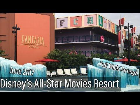 Disney's All-Star Movies Resort FULL Walk Through June 2017