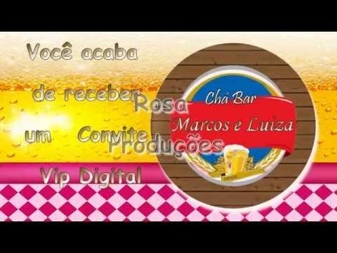 Convite Chá Bar Rosa Produções Youtube