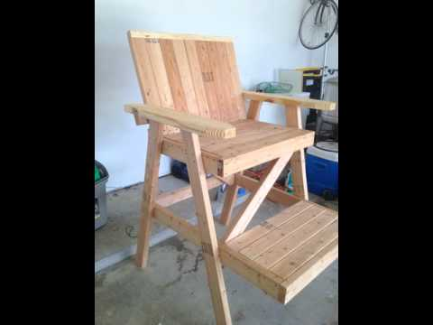 How To Build A Lifeguard Chair Suv Captain Chairs Very Large Youtube