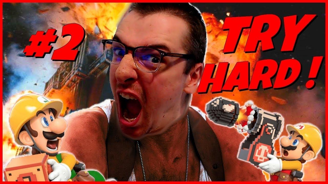 DES PIQUES ET DE LA LAVE QUI PIQUE ! Try Hard #2 - Super Mario Maker 2