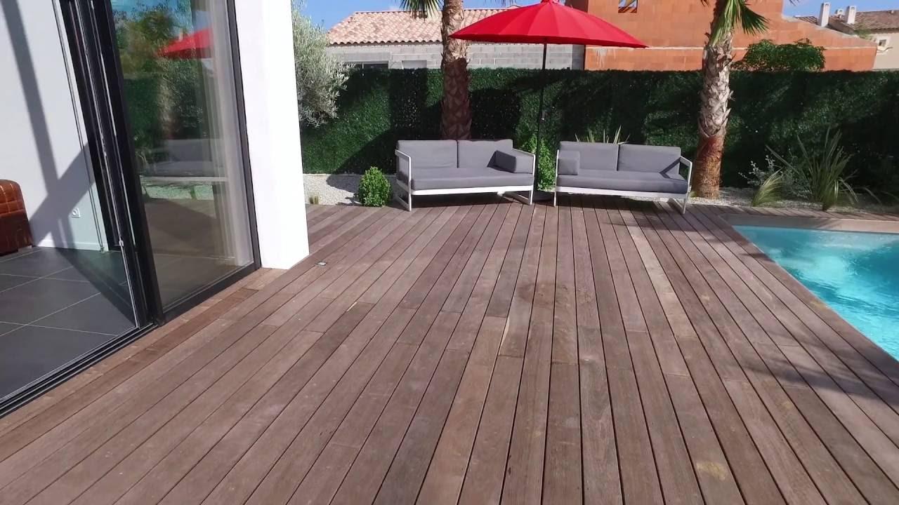 Terrasse en bois Itauba KD FSC Grise - YouTube